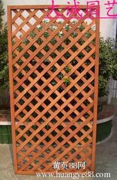 木 户外园艺 木栅栏 木篱笆 网格网片 -防腐木网格片